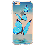 Butterfly Relief TPU Transparent Soft Phone Case foe iPhone 6/6S/6 Plus/6S Plus