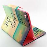 pintura carteira de couro pu ficar tampa da caixa de ar ipad 2 / caixa de ar ipad com suporte de cartão (cores sortidas)