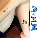 1 sheet Sex Product Tattoo Sticker Beauty Butterfly Pattern Waterproof Temporary Tattooing Paper Body Art Temporary