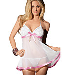 Women Mesh Sling Sexy Pink Bow Temptation Lingerie