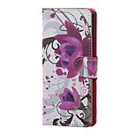 Purple Flowers Magnetic PU Leather wallet Flip Stand Case cover for Sony Xperia XA PP10 F3111 F3112 F3113