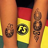 Airbrush-Tattoo Schablonen- fürErwachsener / Teen-Schwarz-PVC-1Stück -22*10*0.2