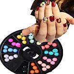 1pcs  New Black Round Bowl Plastic Semicircle Shape Colorful Nail Art Flat Jewelry Nail Art Decoration  SLBY1