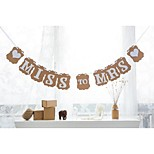 Kraft Vintage Bridal Shower Banner Miss To Mrs Hen Party Hanging Garland Decor with White Ribbon