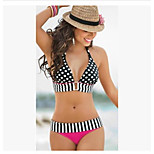 Cute Sexy Body Wave Dotted Bikini Swimsuit Halter Straps