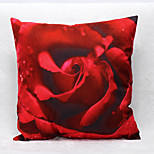 3D Rose Pattern Velvet Pillowcase Sofa Home Decor Cushion Cover (18*18inch)