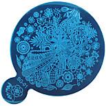 1PC DIY Blue Film Nail Art The Mirror Printing Template