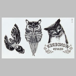 Fashion Tattoo Black Owl Waterproof Tattoo Stickers