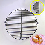 Foldable Round Cake Cooling Rack for Cake Bread Cupcake Baking Tool Nonstick Coated Carbon Steel Black Color