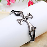 Men's Alloy /Cross  Leather Bracelets / Wrap Bracelets Party / Daily / Casual /Sports
