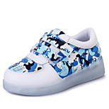 Boys' LED Shoes Outdoor / Athletic / Casual Leatherette Fashion Sneakers Blue / Yellow / Pink