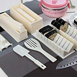 Sushi Cooking Tools DIY 10 pcs Sushi Maker Sushi Roll Tools Rice Ball Mould