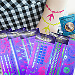 6 Pcs New Glow In LED Lamp Body Waterproof Temporary Tattoo Stickers Fluorescence Tattoos