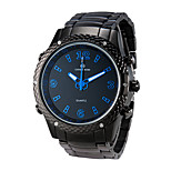 Caven®Men's Stainless Band Dual Time Zones LED Multifunction Sports Wrist Watch 30m Waterproof Cool Watch Unique Watch