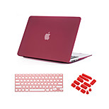 3 in 1 Quicksand Matte Case  with Keyboard Cover and Dust plug  for  MacBook Pro 13
