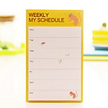 Weekly Schedule Self-Stick Note(1 PCS Random Color)