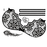 Sexy Large Size PVC Back Tattoo Body Painting Stencils