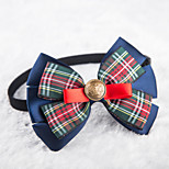 Cat / Dog Collars Adjustable/Retractable / Cute and Cuddly / Bowknot Rainbow Textile