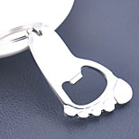 Stainless Steel Little Feet Opener Key Chain Ring Keyring