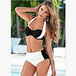 2016 New Multicolor Europe and America Spell Color Cross Split Swimsuit Bikini Foreign Trade Swimsuit Plus Fertilizer
