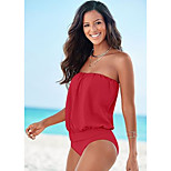 Multicolor Bra Strapless one-piece Swimsuit Cover