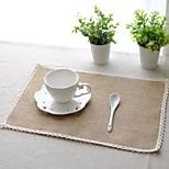 6pcs Placemats Pack Linen Fabric Washable Fashion Pattern 27.5