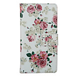 Rose  Pattern PU Leather Full Body Cover with Stand for Huawei Ascend P9