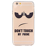 no ensucie conmigo el alivio de TPU transparente caja del teléfono suave enemigo iPhone 6 / 6s / 6s / 6 más plus