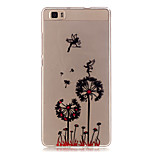 Transparent Colored Dandelion Pattern TPU Soft Case Phone Case For Huawei P8 Lite