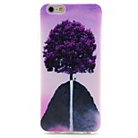 Purple Tree Pattern thickening TPU Popular Brands Phone Case for iPhone 6/6s/6plus/6splus