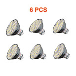 Spot LED Décorative Blanc Chaud / Blanc Froid Tiger Light 6 pièces MR16 GU5.3(MR16) 5W 60PCS SMD 3528 280lm lm AC 100-240 V