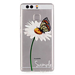 Dandelion Butterfly Pattern Embossed TPU Case for P9/ P9 Lite
