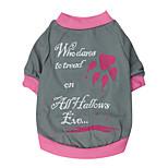 Katzen / Hunde T-shirt Rot / Rosa Sommer / Frühling/Herbst Blumen / Pflanzen Modisch-Pething®, Dog Clothes / Dog Clothing