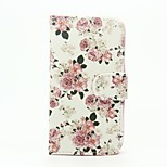 Peony Pattern Wallet Leather Stand Cover Case for Wiko Sunset2