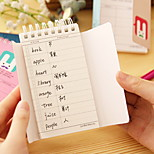 Beard Rabbit Pattern Word Learning Note(1 PCS Random Color)