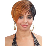 Women lady Short Mix Color Synthetic Hair Wigs