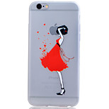 Girls Translucent Luminous TPU Soft Phone Case for iPhone 6/6S/6 Plus/6S Plus
