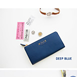 Travel WalletForTravel Storage PU Leather Blue / Pink / Orange / Rose 19.2*9.5*2.5