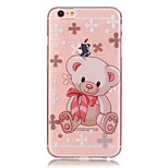 Transparent Colored Teddy Bear Pattern TPU Soft Case Phone Case For iPhone 6/6 Plus/6S/6S Plus