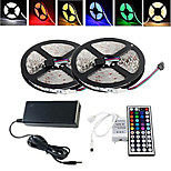 10M Waterproof 150X5050RGB LED Strip Light 44Key(1BIN 2)Remote Controller 12V/6A AU/EU/UK/US Power Supply(AC100-240V)