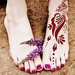 India Foot Pain Painless PVC Henna Tattoo Sticker Printing Airbrush Tattoo Stencils