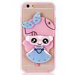 Cartoon Mirror Lanyard Phone Case for iPhone 6/6S/6 Plus/6S Plus