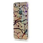 lusso spazzolato modello TPU prugna uccello le coperture del telefono trapano resistenza alla caduta per iPhone SE / 5 / 5s