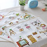 4pcs Placemats Pack Comic Cat Cotton Fabric Washable Fashion Pattern 11.8