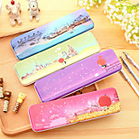 1PC Cute Star Series Metal Pencil  Cartoon Tin Pen Box Brand for Kid School Stationery Supplies(Style random)