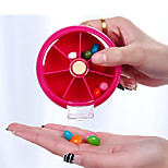 Weekly Rotating Pillbox Travel Pill Case Pill Organizer Medicine Box Drugs Pill Container(Random Color)