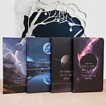 1PC Office Stationery Beautiful Moon Hardcover Notebook Notepad(Style random)