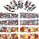 8pcs  Nail Art Water Transfer Stickers Abstractive Leopard  Image Fashion C184-187