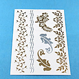 Wedding Paper Women Silver for Hair Tattoo Stickers