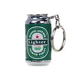 bière mini-briquets porte-clés de flammes nues briquets à gaz gonflable vert